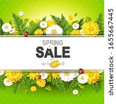spring sale background with... | Shutterstock .eps vector #1655667445