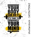 your body can do it. it is time ... | Shutterstock .eps vector #1655675062