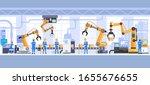industrial factory building... | Shutterstock .eps vector #1655676655