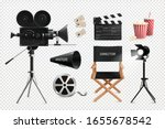 cinema film production... | Shutterstock .eps vector #1655678542