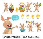 set of cute easter cartoon... | Shutterstock .eps vector #1655683258