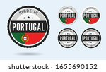 made in portugal. set of labels ... | Shutterstock .eps vector #1655690152
