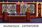 empty watch salon shop...   Shutterstock .eps vector #1655692858