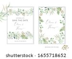 wedding greenery cards  poster... | Shutterstock .eps vector #1655718652