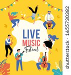 summer party  concept of live... | Shutterstock .eps vector #1655730382