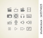 vector icons with creative... | Shutterstock .eps vector #165574025