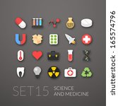 flat icons set 15   science and ...