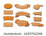 cartoon wooden signboards. oval ... | Shutterstock .eps vector #1655762248