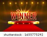 winner scene golden label  star ... | Shutterstock .eps vector #1655775292