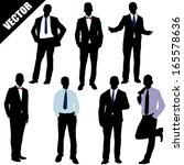 set of successful businessman... | Shutterstock .eps vector #165578636