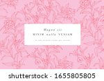 vintage card with forget me not ... | Shutterstock .eps vector #1655805805