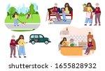 set of volunteer helps senior...   Shutterstock .eps vector #1655828932