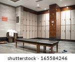interior of a locker changing... | Shutterstock . vector #165584246