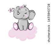 Beautiful Elephant Girl On A...