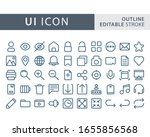 set of user interface icon in...