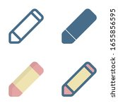 pencil icon in isolated on...