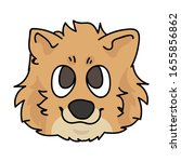 cute cartoon pomeranian face...   Shutterstock .eps vector #1655856862