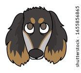 cute cartoon saluki puppy face...   Shutterstock .eps vector #1655856865