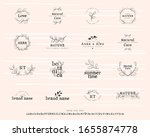 set of logos with leaves.... | Shutterstock .eps vector #1655874778