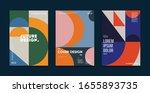 bauhaus design covers set.... | Shutterstock .eps vector #1655893735