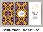 vector card set iftar party... | Shutterstock .eps vector #1655898655