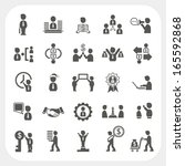 management and business icons... | Shutterstock .eps vector #165592868