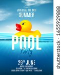 summer pool party poster... | Shutterstock .eps vector #1655929888