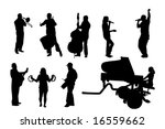 musician silhouettes | Shutterstock .eps vector #16559662