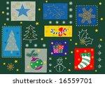 some christmas season ornaments.... | Shutterstock .eps vector #16559701