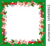 christmas frame with holly... | Shutterstock .eps vector #165600812