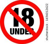 no under eighteen entry badge   Shutterstock .eps vector #1656012622