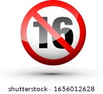 shiny no under sixteen entry...   Shutterstock .eps vector #1656012628
