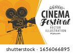 movie camera or projector.... | Shutterstock .eps vector #1656066895