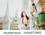 Happy Asian Women Travel With...