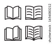 books icon. vector graphic...