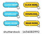 hand cursor vector icon with... | Shutterstock .eps vector #1656083992