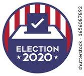 Election 2020 Ballot Box Vector Graphic