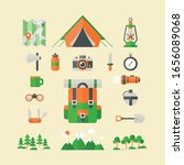 tourists equipment and travel... | Shutterstock .eps vector #1656089068