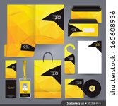 stationery set design  ... | Shutterstock .eps vector #165608936