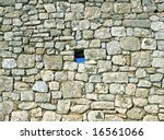 Vintage Stone Wall Where One...