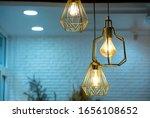 warm light bulbs in coffee... | Shutterstock . vector #1656108652