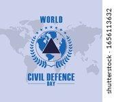 world civil defence day design... | Shutterstock .eps vector #1656113632