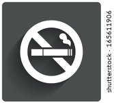no smoking sign. no smoke icon. ... | Shutterstock .eps vector #165611906