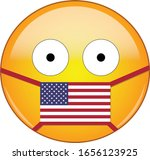 yellow scared emoji face in... | Shutterstock .eps vector #1656123925