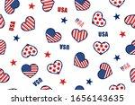 seamless pattern of heart shape ... | Shutterstock .eps vector #1656143635