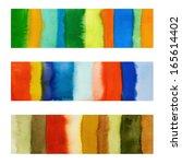 watercolor banners   Shutterstock . vector #165614402
