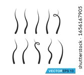 Strands Of Hair Icon Vector...