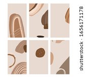 set of abstract templates for... | Shutterstock .eps vector #1656171178