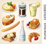 set of traditional french... | Shutterstock .eps vector #165618002