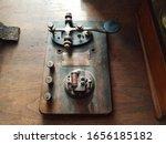 Old Morse Code Or Telegraph Key ...
